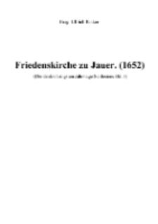 Friedenskirche zu Jauer. (1652) [Dokument elektroniczny]