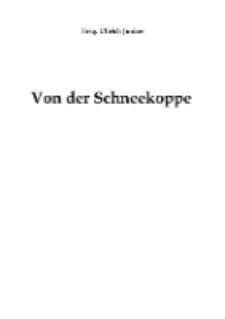 Von der Schneekoppe [Dokument elektroniczny]