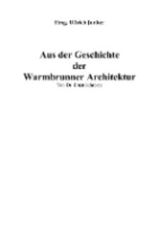 Aus der Geschichte der Warmbrunner Architektur [Dokument elektroniczny]