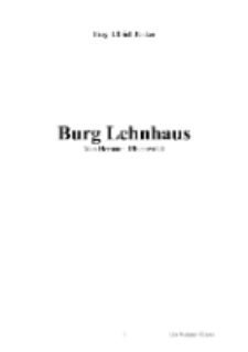 Burg Lehnhaus [Dokument elektroniczny]