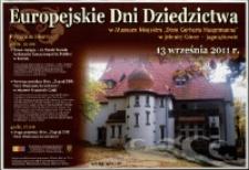 Europejskie Dni Dziedzictwa - plakat [Dokument życia społecznego]