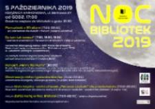 Noc bibliotek 2019 - plakat [Dokument życia społecznego]