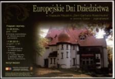 """Europejskie Dni Dziedzictwa w Muzeum Miejskim """"Dom Gerharta Hauptmanna"""" w Jeleniej Górze - Jagniątkowie - plakat [Dokument życia społecznego]"""