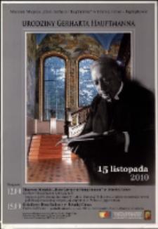 Urodziny Gerharta Hauptmanna - plakat [Dokument życia społecznego]