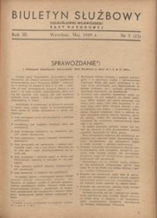 Biuletyn Służbowy Dolnośląskiej Wojewódzkiej Rady Narodowej, R. 1, 1949, nr 5