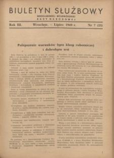 Biuletyn Służbowy Dolnośląskej Wojewódzkiej Rady Narodowej, R. 1, 1949, nr 7