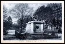 Ohlau - Schlossplatz mit Krieger- und Schill- Denkmal [Dokument ikonograficzny]