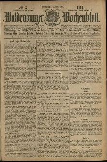 Waldenburger Wochenblatt, Jg. 60, 1914, nr 3