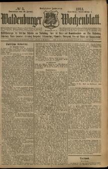 Waldenburger Wochenblatt, Jg. 60, 1914, nr 5