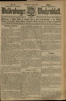 Waldenburger Wochenblatt, Jg. 60, 1914, nr 7