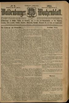 Waldenburger Wochenblatt, Jg. 60, 1914, nr 9