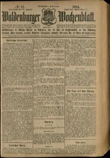 Waldenburger Wochenblatt, Jg. 60, 1914, nr 11