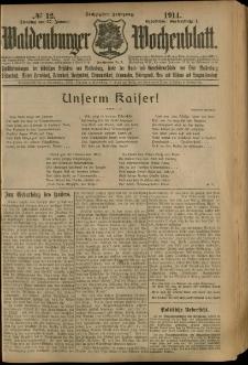 Waldenburger Wochenblatt, Jg. 60, 1914, nr 12