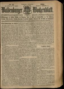 Waldenburger Wochenblatt, Jg. 60, 1914, nr 13