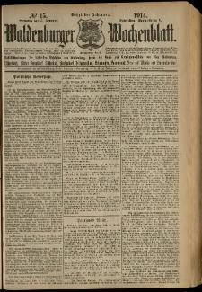 Waldenburger Wochenblatt, Jg. 60, 1914, nr 15
