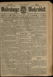 Waldenburger Wochenblatt, Jg. 60, 1914, nr 16
