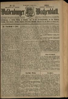 Waldenburger Wochenblatt, Jg. 60, 1914, nr 17