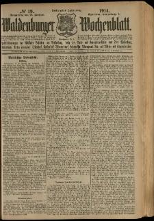 Waldenburger Wochenblatt, Jg. 60, 1914, nr 19