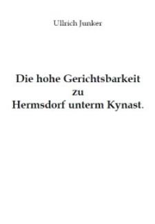 Die hohe Gerichtsbarkeit zu Hermsdorf unterm Kynast [Dokument elektroniczny]