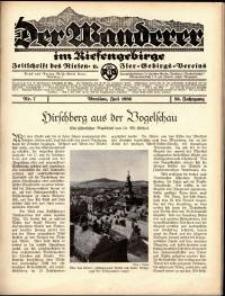 Der Wanderer im Riesengebirge, 1936, nr 7