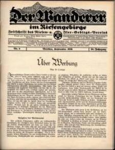 Der Wanderer im Riesengebirge, 1936, nr 9