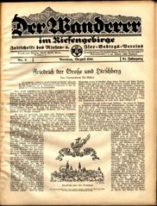 Der Wanderer im Riesengebirge, 1941, nr 8