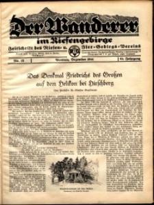Der Wanderer im Riesengebirge, 1941, nr 12