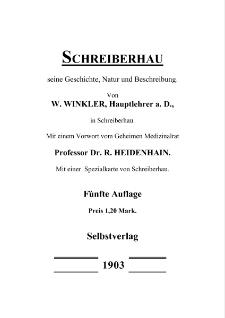 Schreiberhau : seine Geschichte, Natur und Beschreibung [Dokument elektroniczny]