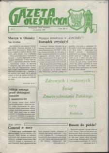 Gazeta Oleśnicka: dwutygodnik Ziemi Oleśnickiej, 1990, nr 02