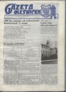 Gazeta Oleśnicka: dwutygodnik Ziemi Oleśnickiej, 1990, nr 04
