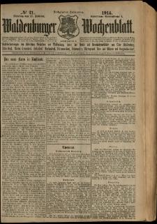 Waldenburger Wochenblatt, Jg. 60, 1914, nr 21
