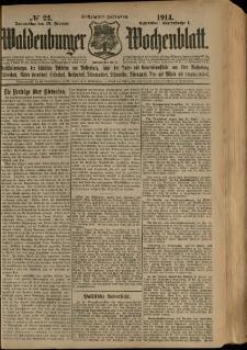 Waldenburger Wochenblatt, Jg. 60, 1914, nr 22