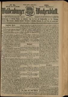 Waldenburger Wochenblatt, Jg. 60, 1914, nr 24