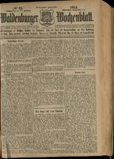 Waldenburger Wochenblatt, Jg. 60, 1914, nr 25