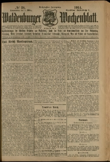 Waldenburger Wochenblatt, Jg. 60, 1914, nr 28