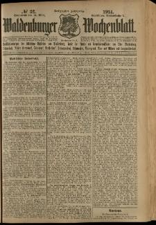 Waldenburger Wochenblatt, Jg. 60, 1914, nr 32