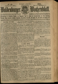Waldenburger Wochenblatt, Jg. 60, 1914, nr 33