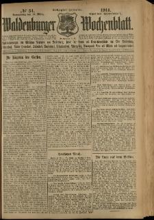 Waldenburger Wochenblatt, Jg. 60, 1914, nr 34