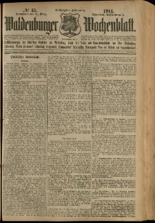 Waldenburger Wochenblatt, Jg. 60, 1914, nr 35