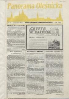 Panorama Oleśnicka: dwutygodnik Ziemi Oleśnickiej, 1991, nr 24