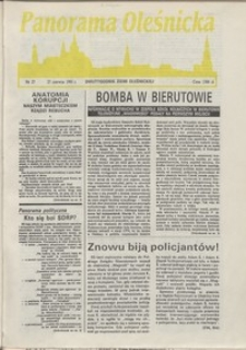 Panorama Oleśnicka: dwutygodnik Ziemi Oleśnickiej, 1991, nr 27