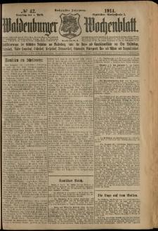 Waldenburger Wochenblatt, Jg. 60, 1914, nr 42