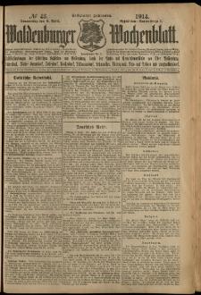Waldenburger Wochenblatt, Jg. 60, 1914, nr 43