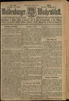 Waldenburger Wochenblatt, Jg. 60, 1914, nr 45