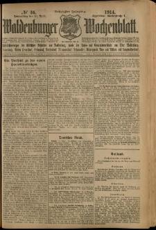 Waldenburger Wochenblatt, Jg. 60, 1914, nr 46