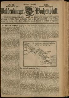 Waldenburger Wochenblatt, Jg. 60, 1914, nr 51