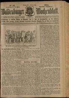 Waldenburger Wochenblatt, Jg. 60, 1914, nr 52