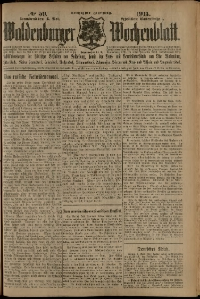 Waldenburger Wochenblatt, Jg. 60, 1914, nr 59