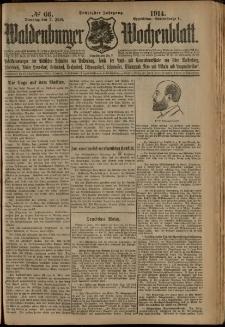 Waldenburger Wochenblatt, Jg. 60, 1914, nr 66