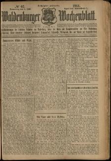 Waldenburger Wochenblatt, Jg. 60, 1914, nr 67